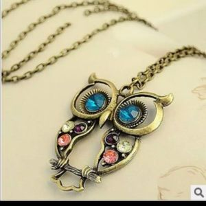 New beautiful Owl long Necklace